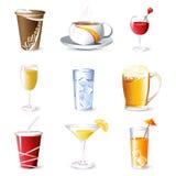 drycker vektor illustrationer