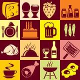 dryckmat stock illustrationer