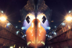 Drydock Royaltyfria Bilder