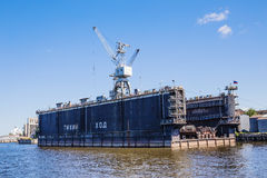 Drydock of Admiralty Shipyards, Saint-Petersburg, Russia Stock Photo
