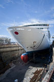 Drydock Cruise Liner Stock Photography