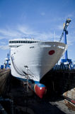 Drydock Cruise Liner Royalty Free Stock Images