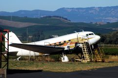 Vliegtuigdrydock Royalty-vrije Stock Fotografie