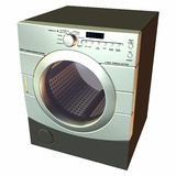 Dryer. 3 D Computer Render of an Dryer Stock Photography