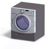 Dryer. Rendering of a dryer With Clipping Path over white stock illustration