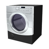Dryer. 3D digital render of a dryer isolated on white background vector illustration