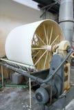 Dryer potato starch. Large drum dryer potato starch royalty free stock photo