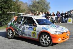 dryftowy Peugeot zbiera obraz stock