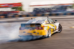Dryftowy samochodowy dryfować w D1 Prix Uroczystym tytule Zdjęcie Royalty Free