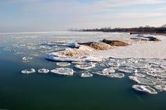 dryfujący lód Fotografia Royalty Free