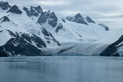 Drygalski Fjord, views of mountains and glacier royalty free stock images