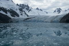 Drygalski Fjord, views of mountains and glacier royalty free stock photo