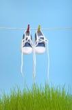 Dryign Schuhe Stockfotografie