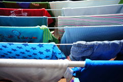 Drying baby clothes Royalty Free Stock Photo