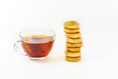 Drying and black tea Royalty Free Stock Images