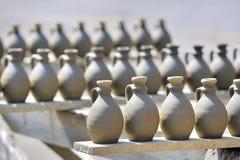 Drying ceramic vase Stock Photography