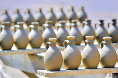 Drying ceramic vase Stock Photos