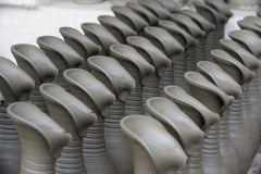 Drying ceramic vase Stock Images