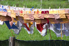Drying clothes Royalty Free Stock Photography