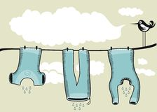 Drying Clothes Background Stock Photos
