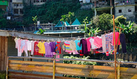 Drying clothes at Banaue town in Ifugao, Philippines Royalty Free Stock Image