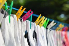 Drying clothes Royalty Free Stock Photo