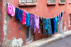 Drying clothes Stock Photography