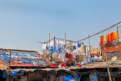 Drying clothes Indian Style Stock Image
