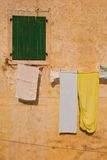 Drying clothes. In the old part of kotor, Montenegro Stock Photos