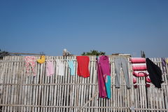 Drying clothes Royalty Free Stock Photos