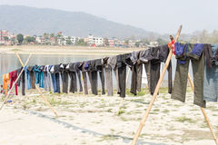 Drying Clothes on Sun Stock Photo