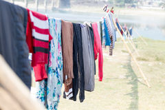 Drying Clothes on Sun Stock Images