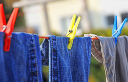 Drying clothes1 Royalty Free Stock Photos