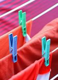 Drying on clothesline Stock Photography