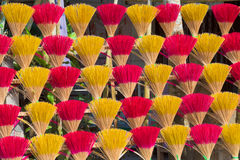 Drying cored stick incense, Central Vietnam Royalty Free Stock Images