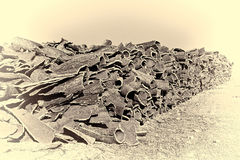 Drying of Corkwood. For Making Wine Corks in Portugal, Stylized Photo Royalty Free Stock Photography