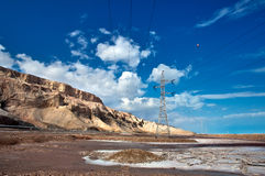 Drying Dead Sea. The southern part of the Dead Sea, Mount Sodom Royalty Free Stock Photography