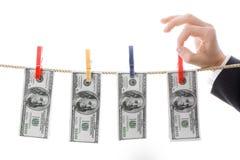 Drying dollars Stock Photography