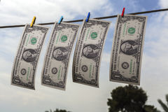 Drying Dollars Royalty Free Stock Photo
