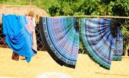 Drying dress at Hmong village in Sapa, Vietnam Royalty Free Stock Photos