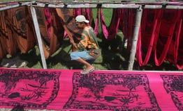 Drying fabrics Stock Photos