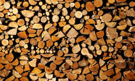 drying firewood Stock Photo
