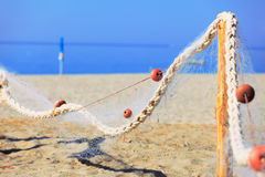 Drying fish net Royalty Free Stock Image