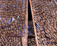 Drying fish in Portugal stock photo
