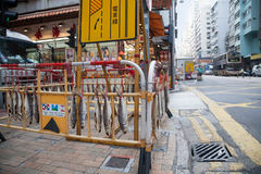 Drying fish in Sheung Wan district in Hong Kong Royalty Free Stock Image