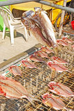 Drying fish in traditional way Royalty Free Stock Images
