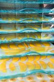 Drying fruits in the drying machine Stock Photo