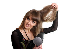 Drying hair Stock Photos