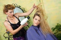 Drying hair Stock Photos