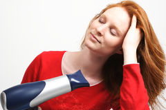 Drying Hair Stock Photo